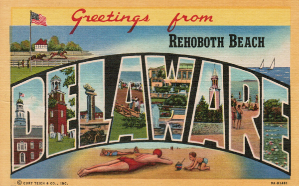 Greetings from Rehoboth Beach, DE!